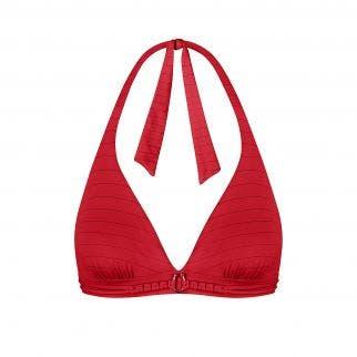 Haut de maillot de bain triangle sans armatures Rouge tresse