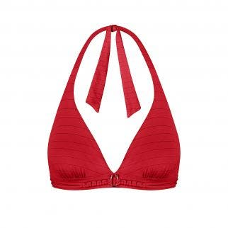 Wireless triangle bikini bra Red