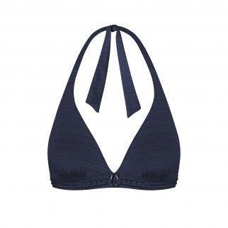 Wireless triangle bikini bra Blue